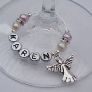 Angel Personalised Wine Glass Charm - Elegance Style